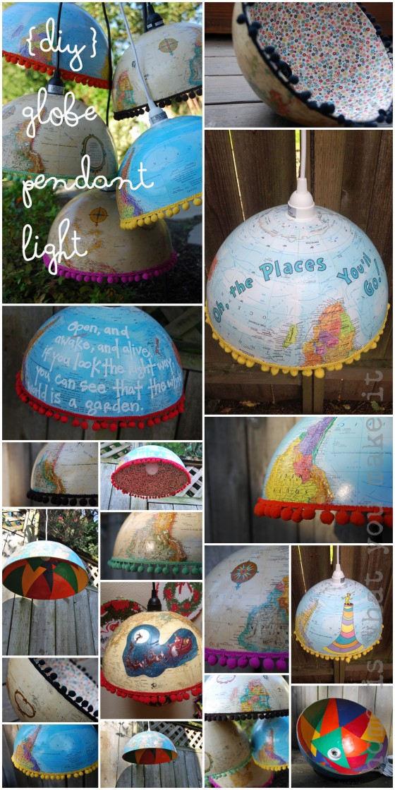 {diy} globe pendant light 2