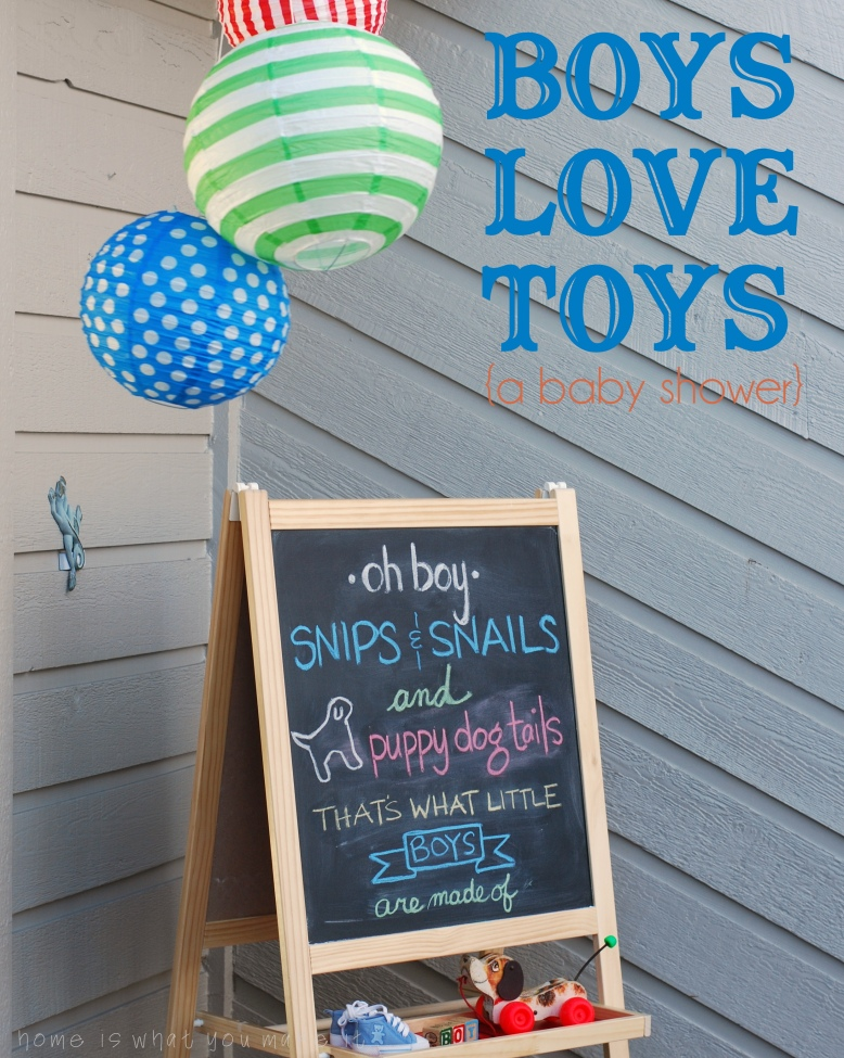 boys love toys {a baby shower}