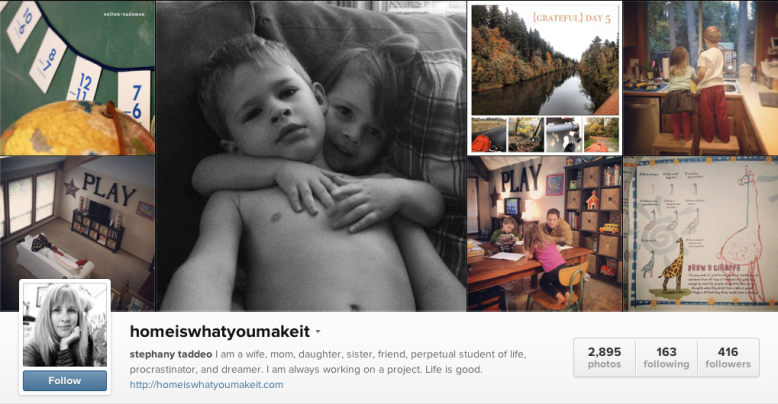 home is what you make it on instagram