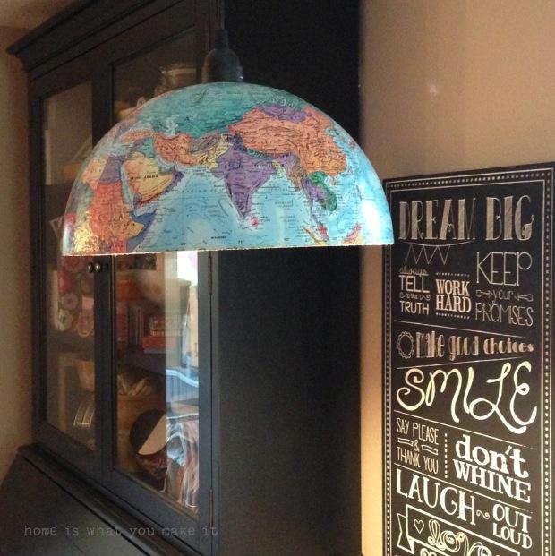 {diy} globe pendant light 8