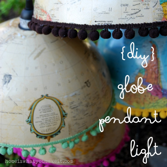 {diy} globe pendant light 1