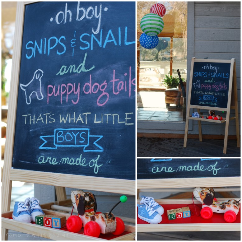 boys love toys {a baby shower} 1