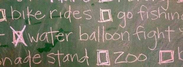 summer list 2015-water balloon fight