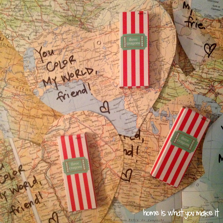 {home is what you make it} color my world valentines